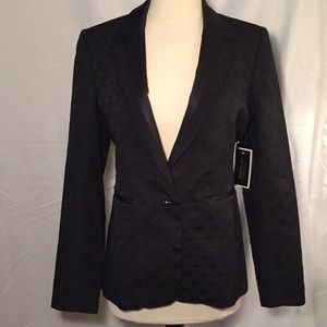 Juicy Couture Jacquard Pitch Black Blazer 2/4
